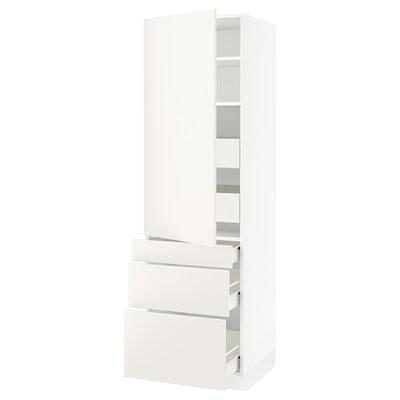 "SEKTION / FÖRVARA high cab w door/3 fronts/5 drawers white/Veddinge white 24 "" 24 "" 24 3/4 "" 80 """