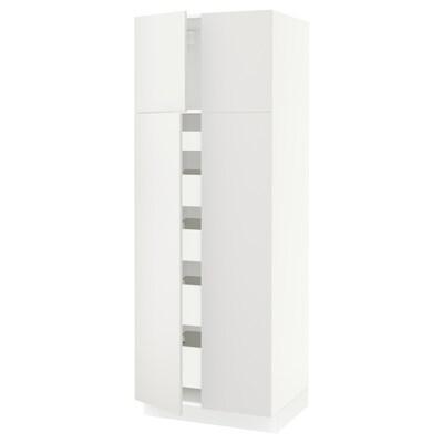 "SEKTION / FÖRVARA high cabinet w 4 doors/5 drawers white/Häggeby white 30 "" 24 "" 24 3/4 "" 80 """