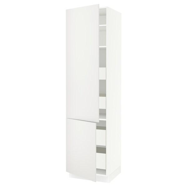 "SEKTION / FÖRVARA High cb w 2 doors/shelves/4 drawers, white/Häggeby white, 24x24x90 """