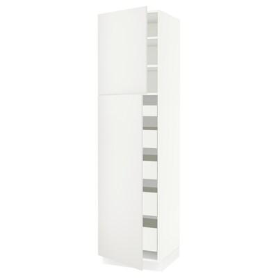 "SEKTION / FÖRVARA high cb w 2 doors/shelves/5 drawers white/Häggeby white 24 "" 24 "" 24 3/4 "" 90 """