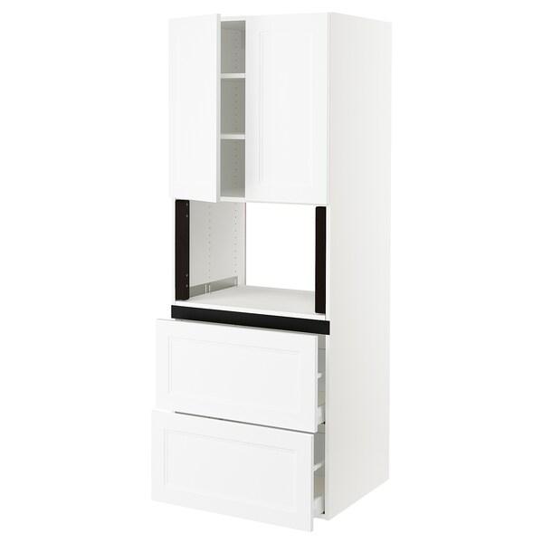 "SEKTION Hi cb f micro w 2 drawers/2 doors, white/Axstad matt white, 30x24x80 """