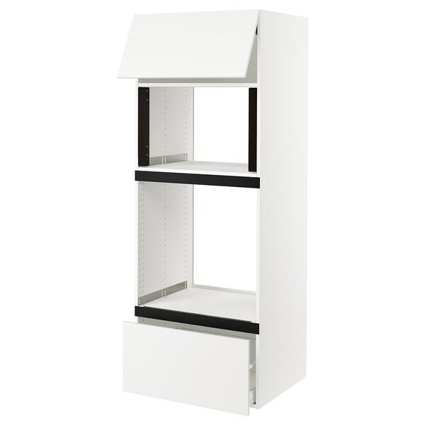 "SEKTION High cab f micro/oven+drawer/door, white/Häggeby white, 30x24x80 """