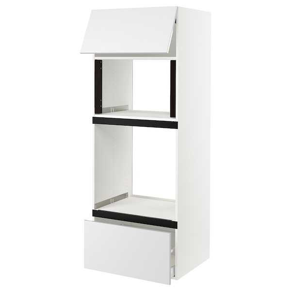"""SEKTION High cab f micro/oven+drawer/door, white/Ringhult white, 30x24x80 """""""