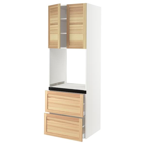 "SEKTION High cab f oven+2 drawers/2 doors, white/Torhamn ash, 30x24x90 """