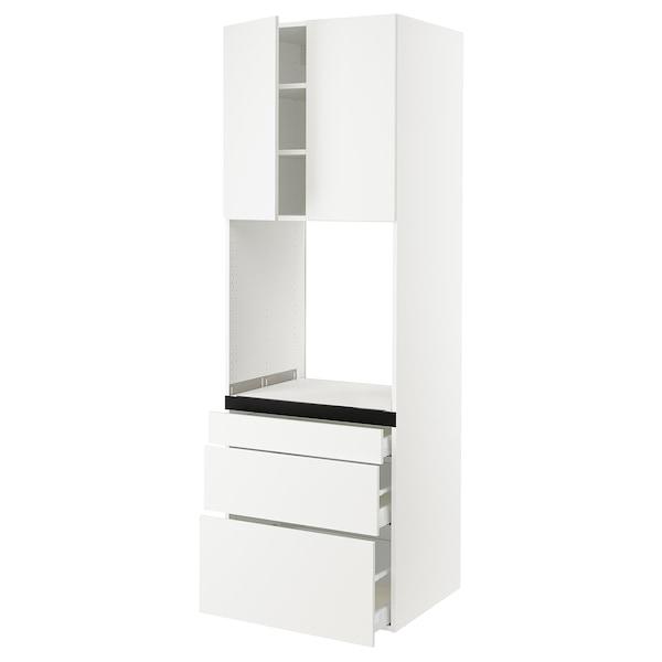 "SEKTION High cab f oven w 3 drawers/2 doors, white/Häggeby white, 30x24x90 """