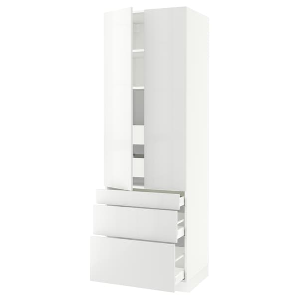 SEKTION High cab w 2 drs/3 fronts/5 drawers, white/Ringhult white, 30x24x90 ""