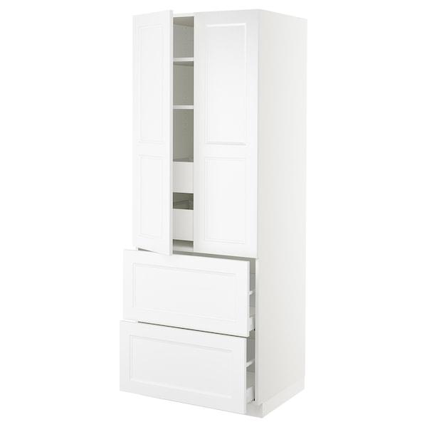 "SEKTION High cab w 2drs/2 fronts/4 drawers, white/Axstad matt white, 30x24x80 """