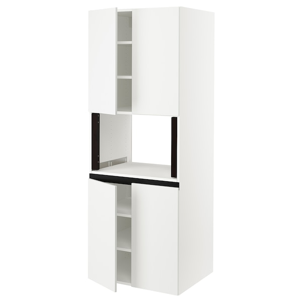 """SEKTION High cabinet for micro w 4 doors, white/Häggeby white, 30x24x80 """""""