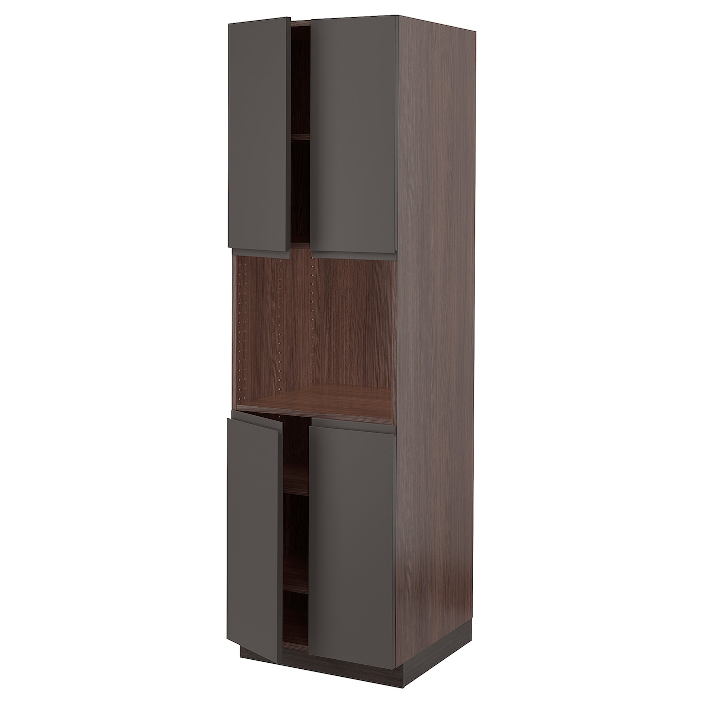Sektion High Cabinet For Microwave Amp 4doors Brown