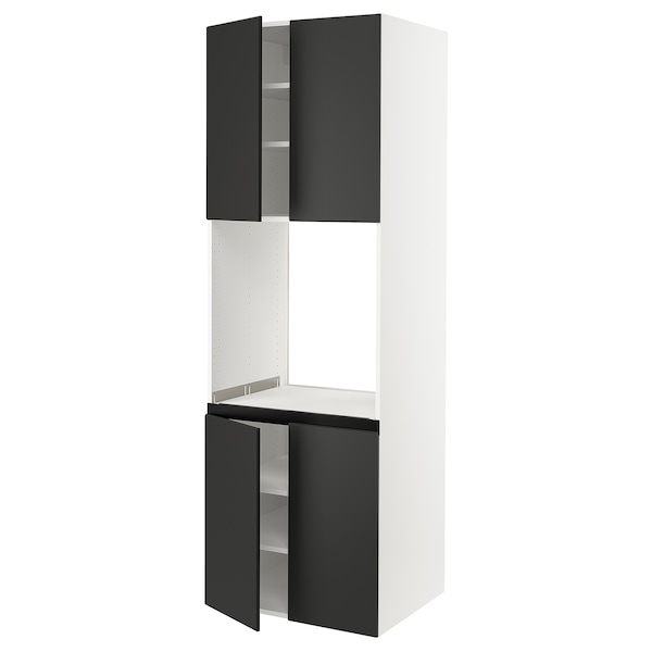 """SEKTION High cabinet for oven w 4 doors, white/Kungsbacka anthracite, 30x24x90 """""""