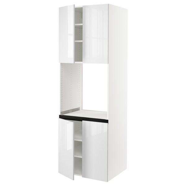 "SEKTION High cabinet for oven w 4 doors, white/Ringhult white, 30x24x90 """