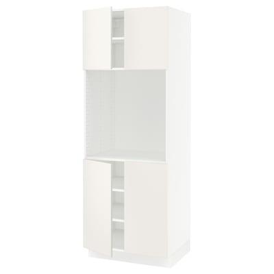 """SEKTION high cabinet for oven w 4 doors white/Veddinge white 30 """" 24 """" 24 3/4 """" 80 """""""