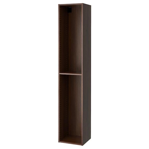 "SEKTION High cabinet frame, wood effect brown, 15x14 3/4x80 """