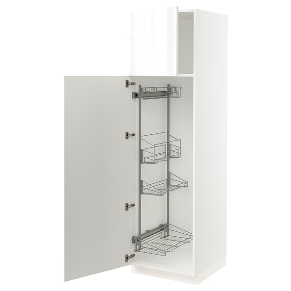 """SEKTION High cabinet/pull-out int fittings, white/Ringhult white, 24x24x80 """""""