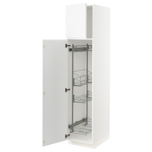 """SEKTION High cabinet/pull-out int fittings, white/Voxtorp matt white, 18x24x80 """""""