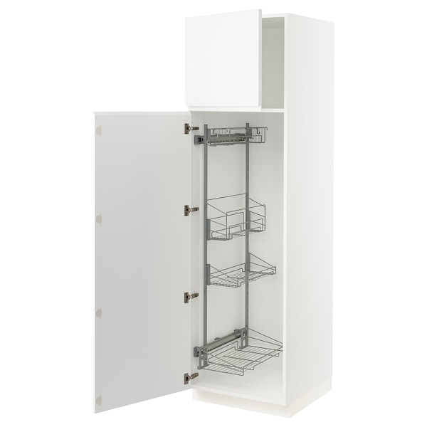 """SEKTION High cabinet/pull-out int fittings, white/Voxtorp matt white, 24x24x80 """""""