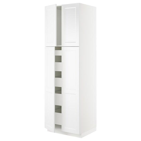 "SEKTION High cabinet w 4 doors/5 drawers, white/Axstad matt white, 30x24x90 """