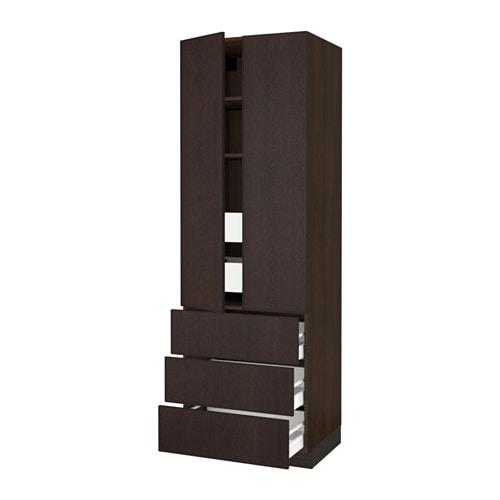 Sektion High Cabinet W 2 Doors Amp 5 Drawers Wood Effect