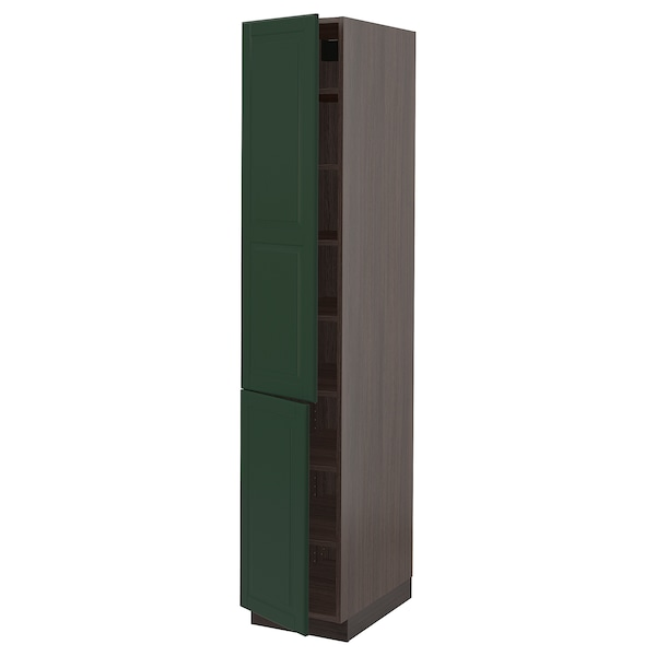 SEKTION High cabinet with shelves/2 doors, brown, Bodbyn ...