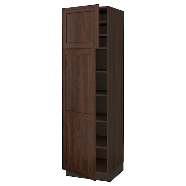 """SEKTION High cabinet with shelves/2 doors, brown/Edserum brown, 24x24x80 """""""
