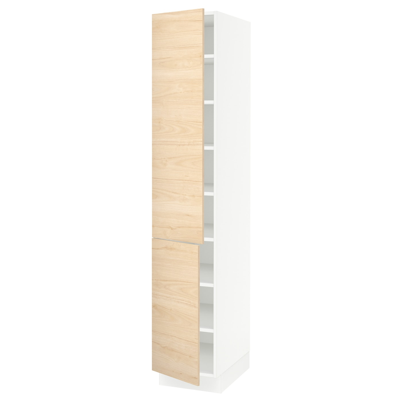 Sektion High Cabinet With Shelves 2 Doors White