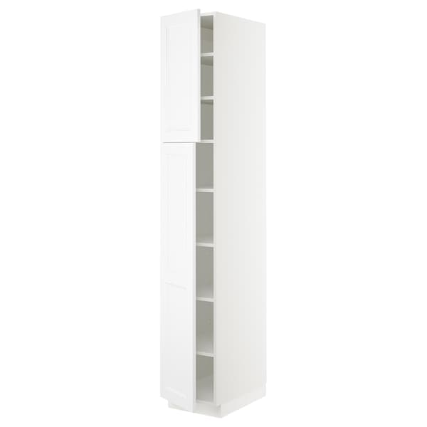 SEKTION High cabinet with shelves/2 doors, white/Axstad matt white, 15x24x90 ""