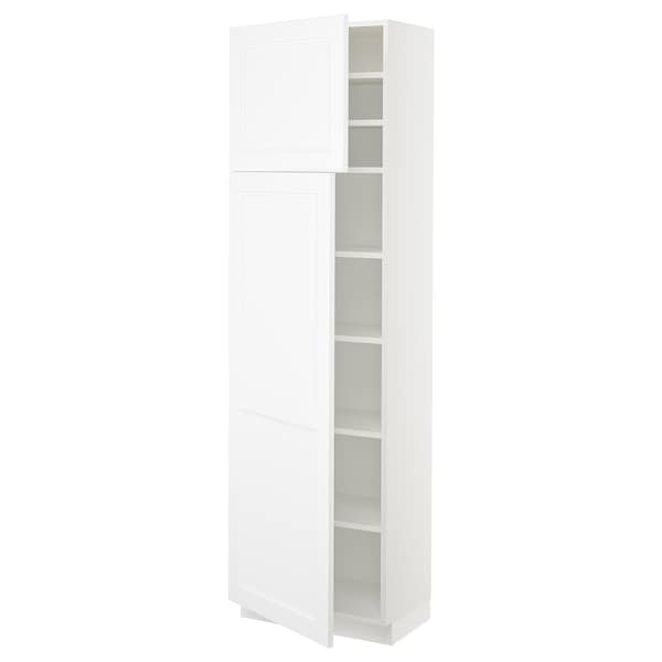 SEKTION High cabinet with shelves/2 doors, white/Axstad matt white, 24x15x80 ""