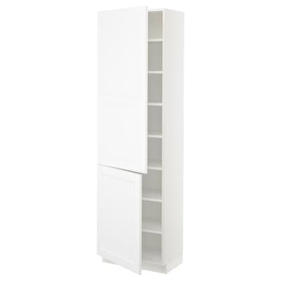 "SEKTION High cabinet with shelves/2 doors, white/Axstad matt white, 24x15x80 """