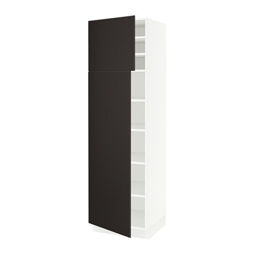 Sektion High Cabinet With Shelves Amp 2 Doors White