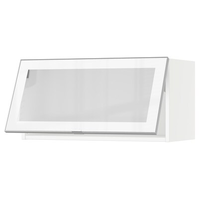 """SEKTION Horizontal wall cabinet/glass door, white/Jutis frosted glass, 30x15x15 """""""