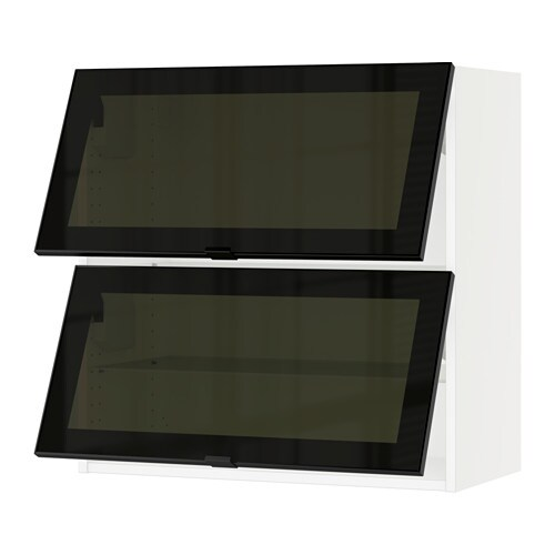 Sektion Horizontal Wall Cabinet2glass Door Jutis Smoked Glass
