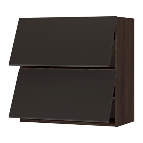 Sektion Horizontal Wall Cabinet W 2 Doors Wood Effect Brown Kungsbacka Anthracite 30x15x30