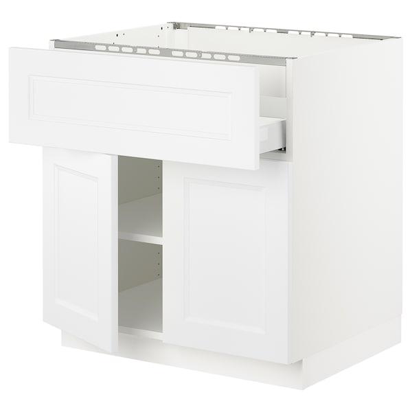 "SEKTION / MAXIMERA Base cab f cktp/dw/shelves/2drs, white/Axstad matt white, 30x24x30 """