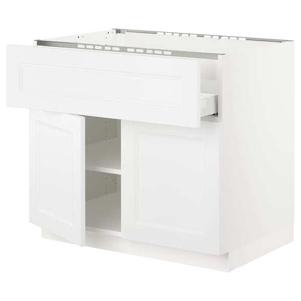 "SEKTION / MAXIMERA Base cab f cktp/dw/shelves/2drs, white/Axstad matt white, 36x24x30 """