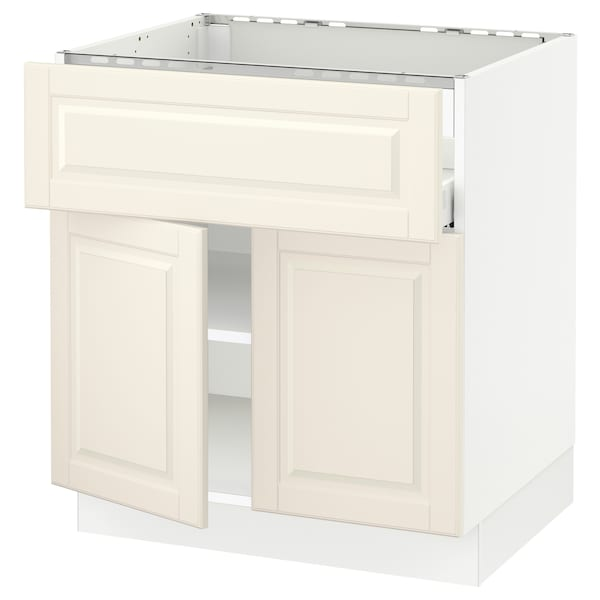 SEKTION / MAXIMERA Base cab f cktp/dw/shelves/2drs, white/Bodbyn off-white, 30x24x30 ""