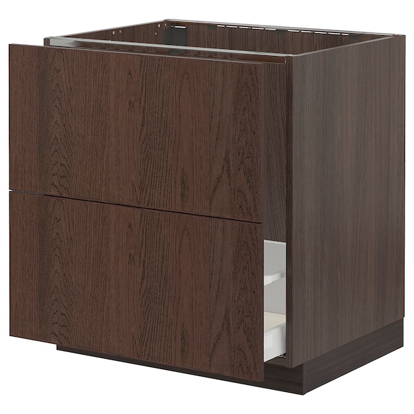 """SEKTION / MAXIMERA Base cab f sink/recycling/2 fronts, brown/Sinarp brown, 30x24x30 """""""