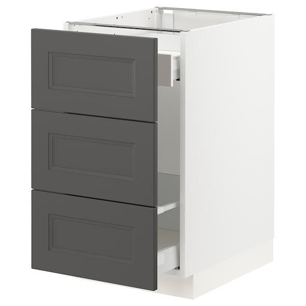 "SEKTION / MAXIMERA Base cabinet for recycling, white/Axstad dark gray, 18x24x30 """