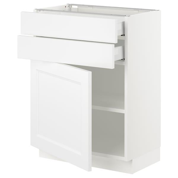 "SEKTION / MAXIMERA Base cabinet w door/2 drawers, white/Axstad matt white, 24x15x30 """