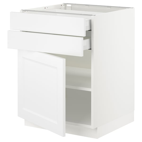 SEKTION / MAXIMERA Base cabinet w door/2 drawers, white/Axstad matt white, 24x24x30 ""