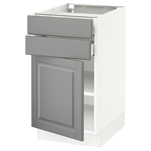 "SEKTION / MAXIMERA Base cabinet w door/2 drawers, white/Bodbyn gray, 18x24x30 """