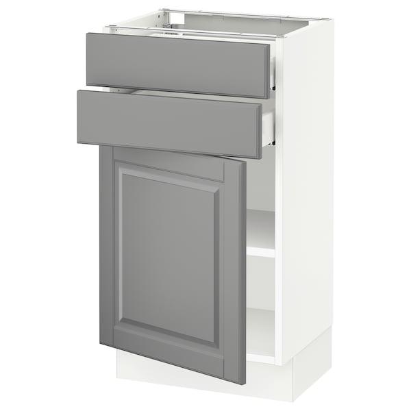 "SEKTION / MAXIMERA Base cabinet w door/2 drawers, white/Bodbyn gray, 18x15x30 """