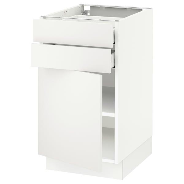 "SEKTION / MAXIMERA Base cabinet w door/2 drawers, white/Häggeby white, 18x24x30 """