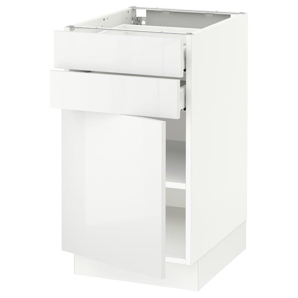"SEKTION / MAXIMERA Base cabinet w door/2 drawers, white/Ringhult white, 18x24x30 """