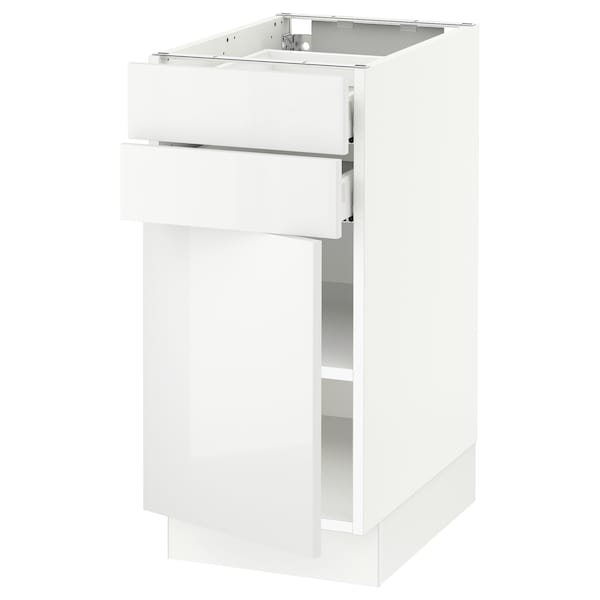 SEKTION / MAXIMERA Base cabinet w door/2 drawers, white/Ringhult white, 15x24x30 ""