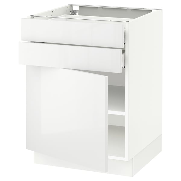 "SEKTION / MAXIMERA Base cabinet w door/2 drawers, white/Ringhult white, 24x24x30 """