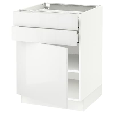 SEKTION / MAXIMERA Base cabinet w door/2 drawers, white/Ringhult white, 24x24x30 ""