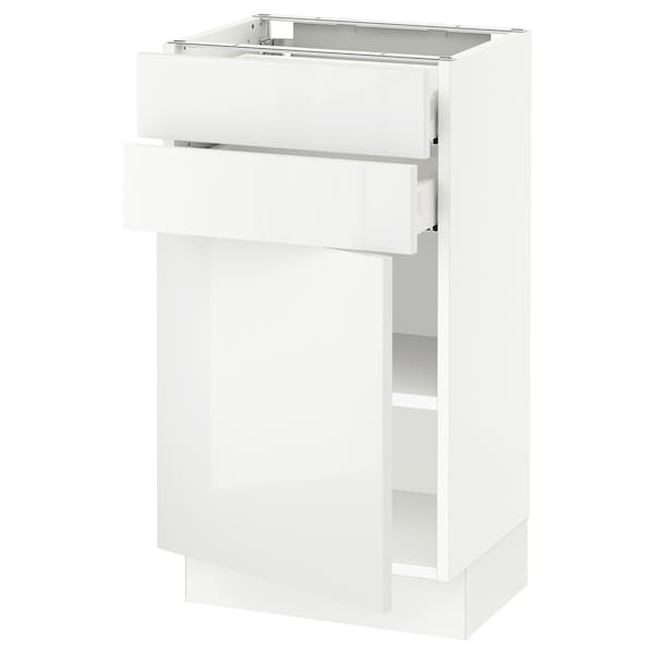 SEKTION / MAXIMERA Base cabinet w door/2 drawers, white/Ringhult white, 18x15x30 ""
