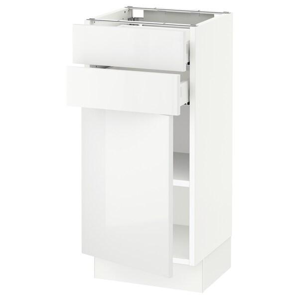 "SEKTION / MAXIMERA Base cabinet w door/2 drawers, white/Ringhult white, 15x15x30 """