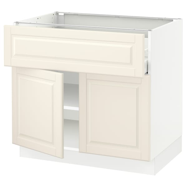 """SEKTION / MAXIMERA Base cabinet with drawer/2 doors, white/Bodbyn off-white, 36x24x30 """""""