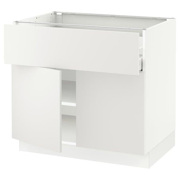 "SEKTION / MAXIMERA Base cabinet with drawer/2 doors, white/Häggeby white, 36x24x30 """